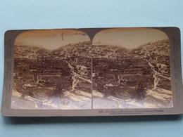 The Valley Of Kedron & Village Of Siloam PALESTINE ( N° 14 ) Stereo Photo : Underwood & Underwood Publi ( Voir Photo ) ! - Stereoscoop