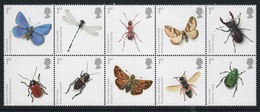 GB 2008 Block Action For Species Insects Complete Set Of Unmounted Mint Stamps. - Blocks & Miniature Sheets