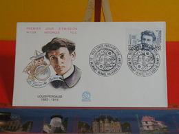 FDC> Louis Pergaud 1882-1915 - 23.1.1982 > (25) Belmont Vergel Villedieu Le Camp < 1er Jour Coté 1,80€ - FDC