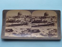 "The "" Dome Of The Rock "" Mt Mo Jerusalem Palestine ( N° 30 ) Stereo Photo : Underwood & Underwood Publi ( Voir Photo ) ! - Stereoscopic"