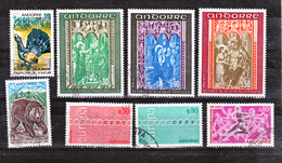 Andorre Française 1971 Année Complète 209 216 Oblitérée Used Cote 24.45 - Frans-Andorra