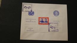 Paraguay C311 Visit Of Prince Philip Duke Of Edinburgh Pres Stroessner Souvenir Sheet Block Day Issue Cancel 1962 A04s - Royalties, Royals