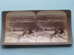 Plain Of The Jordan, Jericho, Palestine ( N° 50 ) Stereo Photo : Underwood & Underwood Publi ( Voir Photo ) ! - Stereoscopic