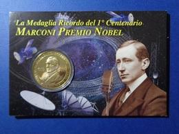 TEMATICA MARCONI 2009 MEDAGLIA 100° ANNIVERSARIO DEL PREMIO NOBEL 1909 IN BLISTER / FORDER - Monete