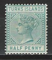 Turks Islands SG 53, Mi 22aI * MH - Turks & Caicos