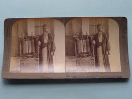 Samaritan High Priest, Pentateuch, Palestine ( N° 59 ) Stereo Photo : Underwood & Underwood Publi ( Voir Photo ) ! - Stereoscopic