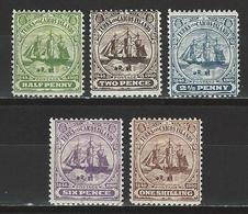 Turks & Caicos Islands SG 101, 103, 104a, 106, 107, Mi 34, 36, 37b, 39, 40 * MH - Turks And Caicos