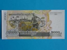 CAMBODGE  2.000  RIELS  2007 Unc - Cambodia