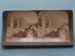 Herod's Street Of Columns, Samaria, Palestine ( N° 63 ) Stereo Photo : Underwood & Underwood Publi ( Voir Photo ) ! - Photos Stéréoscopiques