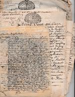 1723/1734 - Jean Henry De Lièze, Seigneur D'ANDILLY, Charles CARLIER ,Charles D'EGREMONT - 7 Liasses D'actes Et Procès - Documenti Storici