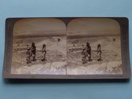 Plain Of Esdraelon And Mt Carmel, Palestine ( N° 75 ) Stereo Photo : Underwood & Underwood Publi ( Voir Photo ) ! - Stereoscopic