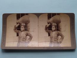 A Christian Girl Of Nazareth, Palestine ( N° 74 ) Stereo Photo : Underwood & Underwood Publi ( Voir Photo ) ! - Stereoscopic