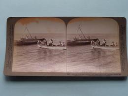 Fisherman On The Sea Of Galilee, Palestine ( N° 85 ) Stereo Photo : Underwood & Underwood Publi ( Voir Photo ) ! - Photos Stéréoscopiques