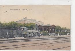 Vöslau-Gainfarn - Bahnhof Mit Dampfzug - 1906        (180315) - Austria