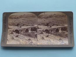 Roman Bridge Over The Hasbany, Palestine ( N° 89 ) Stereo Photo : Underwood & Underwood Publi ( Voir Photo ) ! - Stereoscopic
