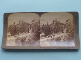 Old Gate To Caesarea, Philippi, Palestine ( N° 90 ) Stereo Photo : Underwood & Underwood Publi ( Voir Photo ) ! - Stereoscopic