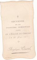 IMAGE PIEUSE ANNONCANT LA COMMUNION DE ANGELIQUE COUETIL Le 28 Mai 1911 à Chavoy 50 - Communion