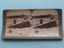 Building Stone At Ruins Of Baalbek Syria ( N° 95 ) Stereo Photo : Underwood & Underwood Publi ( Voir Photo ) ! - Photos Stéréoscopiques