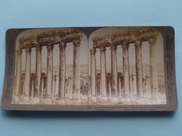 "Colossal Remnants "" SUN "" Temple Of Baalbek Syria ( N° 96 ) Stereo Photo : Underwood & Underwood Publi ( Voir Photo ) ! - Photos Stéréoscopiques"