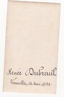 IMAGE PIEUSE ANNONCANT LA COMMUNION DE RENEE DUBREUIL Le 12 Mai 1932 à Versailles 78 - Communion