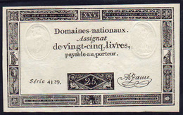 ASSIGNAT De 25 Livres:  Date 06/06/1793, L'an 2 De La République Française. - Assignats