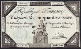 ASSIGNAT De 50 Livres Illustré: 14/12/1792, L'an Premier De La République Française. - Assignats