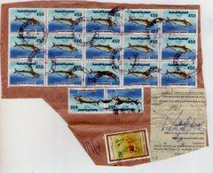 Tunisia. Frammento Di Pacco. Fish Stamps. - Tunisia