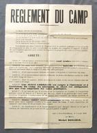 Arrêté Municipal - Commune D'Évry Petit Bourg - Règlement Du Camp - Année 1949 - Manifesti