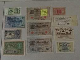 ALLEMAGNE: Bon Lot De 20 Billets TB à Neufs 1908/1980 - [ 3] 1918-1933 : Weimar Republic