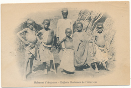 SULTANAT D'ANJOUAN - Enfants Bushmen De L'Intérieur - 3 Trous D'épingle - Comores