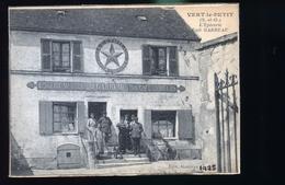 VERT LE PETIT CAFE GARREAU                    CARTE RACADREE ET DOUBLE CARTE - Vert-le-Petit