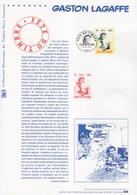 = Collection Historique 1er Jour Fête Du Timbre 2001 Gaston Lagaffe Paris 24.02.01 N°3370 - Journée Du Timbre