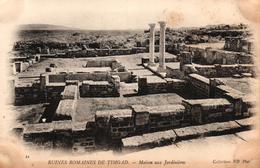 ALGERIE - RUINES ROMAINES DE TIMGAD - MAISON AUX JARDINIERS - Algeria