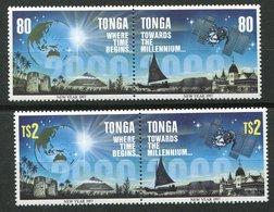 Tonga ** N° 1065 à1068 - Vers L' An 2000 - Tonga (1970-...)