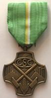 Médaille Syndicat CSC. Médaille Du Travail. Hommage Et Reconnaissance. - Professionals / Firms