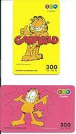 2 Cartes Prépayées Thailande Garfield Chat Cat BD (D 453) - Thaïlande