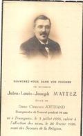 DP. JULES MATTEZ ° TRAZEGNIES 1853 - + 1926 - BOURGMESTRE DE SOUVRET PENDANT 30 ANS - Religion & Esotérisme