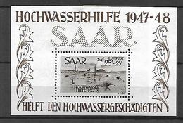 SARRE  Bloc - Feuillet 1948  Cat Yt   N° 2  N* MLH      CH HORS    TIMBRE - Blocks & Sheetlets