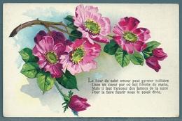 CPA - FANTAISIE - FLEURS - Tarjetas De Fantasía