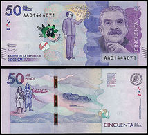 Colombia 50000 Pesos Gabriel Garcia Marquez - 2015 Unc - Colombia