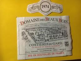 7995 - Domaine Des Beaux-Bois 1974 Costières Du Gard Pierre Dupond - Côtes Du Rhône