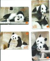 4 Cartes Prépayées Thailande Top Ut Panda Animal Jungle (D 455) - Thaïlande