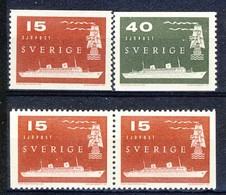+Sweden 1958. Post Service Seaway. Michel 436-37 + Pair. MNH(**) - Ongebruikt