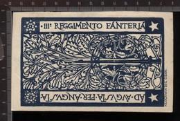 393H/12  CPA WW15-18 CARTOLINA REGGIMENTALE 111° REGGIMENTO FANTERIA XILOGRAFIA DI G. CISARI - Régiments