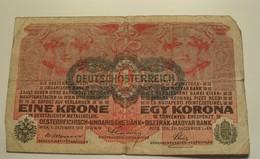 1916 - Autriche - Austria - EINE KRONE - Wien, 1. Dezember 1916 - N°. 627315  1499 - Austria