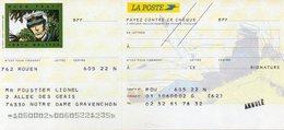 Chéque La POSTE - Hugo Pratt / Corto Maltese - Cheques & Traveler's Cheques