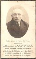 DP. CLEMENT DANNIAU ° BRAINE-LE-CHATEAU 1876 - + ENGHIEN 1932 - Religion & Esotérisme