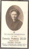 DP. CLEMENTIA DELOS ° LICHTERVELDE 1869 -+ THOUROUT 1922 - Religion & Esotérisme
