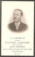 DP. VICTOR LORIERS + BRAINE-LE-COMTE 1908-  59 ANS - Religion & Esotérisme
