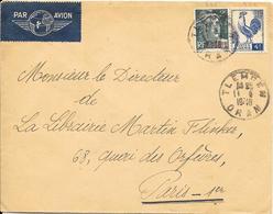 LOT 1803210 - ALGERIE N° 290 SUR LETTRE DE COLOMB BECHAR DU 25 NOVEMBRE 1953 POUR RABAT - CINQUANTENAIRE - Algérie (1924-1962)